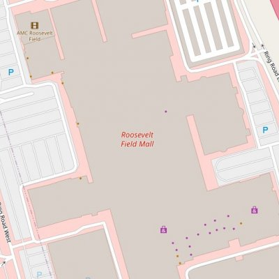 Roosevelt Field plan - map of store locations