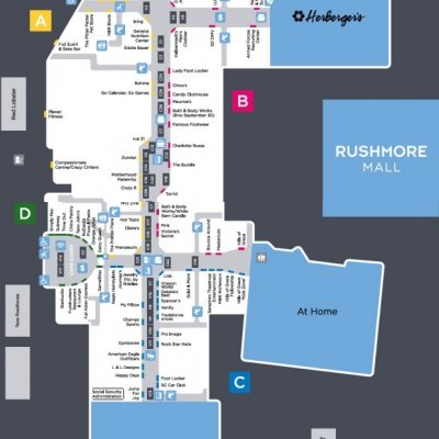 Rushmore Mall plan - map of store locations