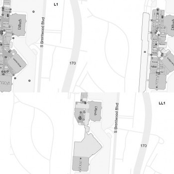 Saint Louis Galleria plan - map of store locations