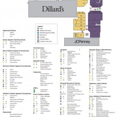 Santa Rosa Mall plan - map of store locations