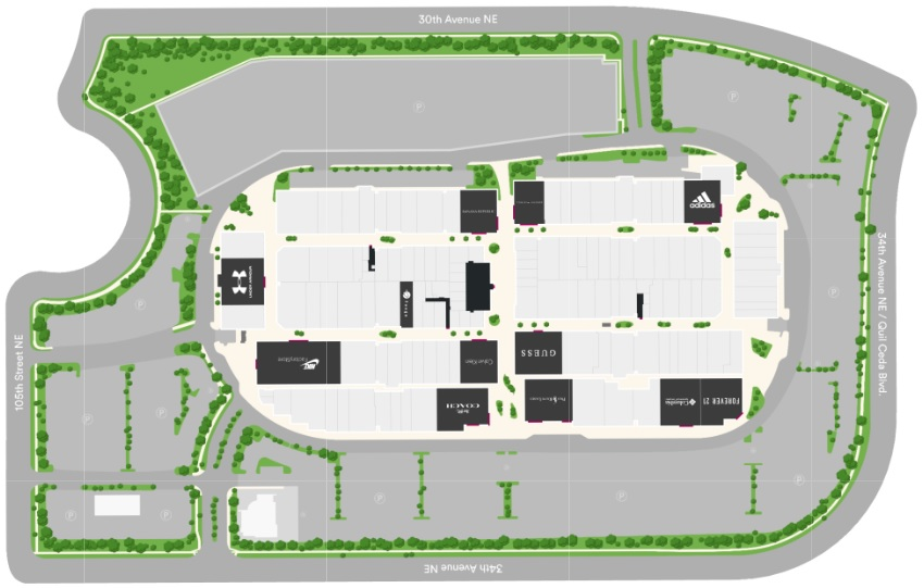 Seattle Premium Outlet Map Seattle Premium Outlets (129 stores)   outlet shopping in Tulalip