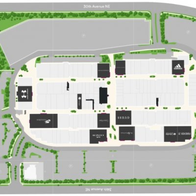 Seattle Premium Outlets plan - map of store locations