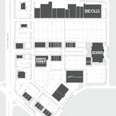 Seminole City Center plan - map of store locations