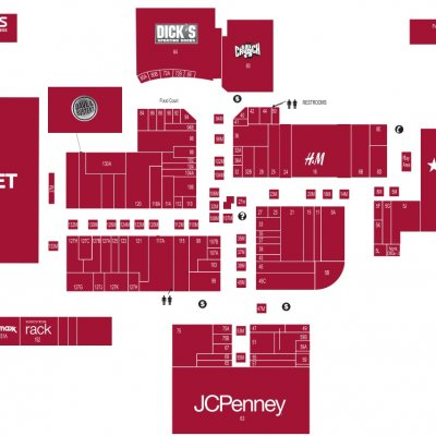 Serramonte Center plan - map of store locations