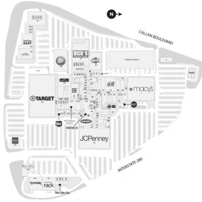 Serramonte Center plan - map of store locations
