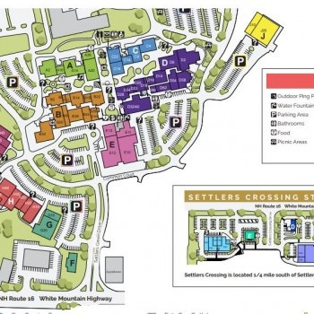 Settlers' Green Outlet Village plan - map of store locations