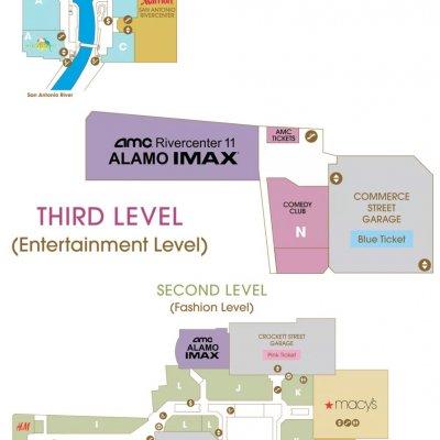 Shops at Rivercenter (Rivercenter Mall) plan - map of store locations