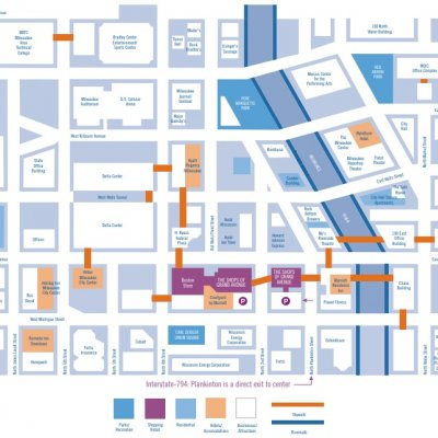 Shops of Grand Avenue plan - map of store locations