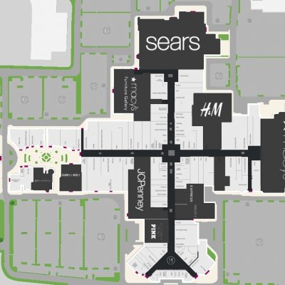 Smith Haven Mall plan - map of store locations