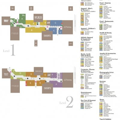 Solano Town Center plan - map of store locations