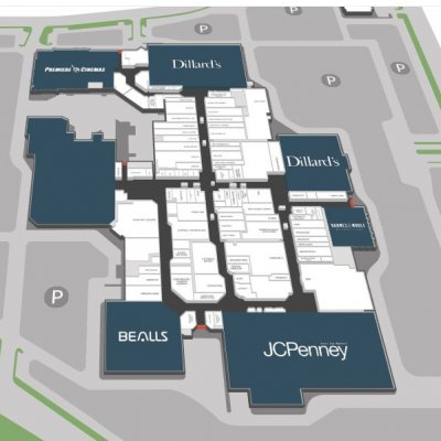 South Plains Mall plan - map of store locations