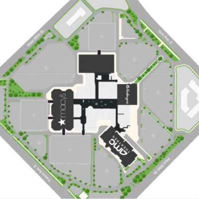 Southdale Center plan - map of store locations
