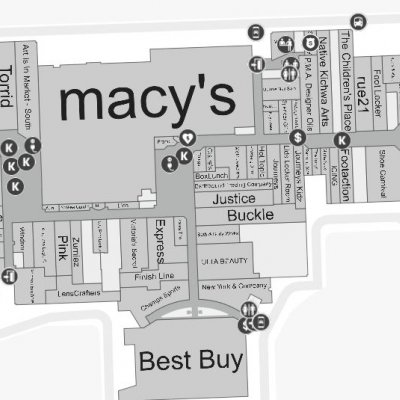 Southland Center plan - map of store locations