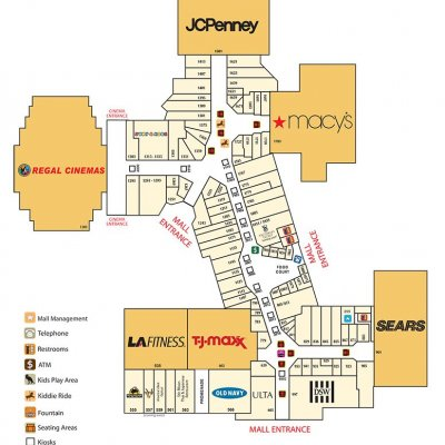 Southland Mall Miami plan - map of store locations