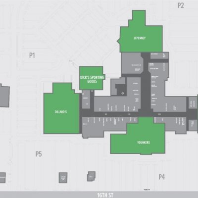 SouthPark Mall Moline plan - map of store locations