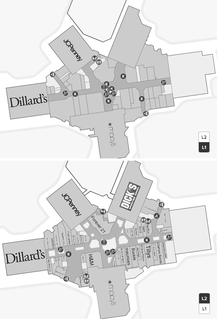 Southwest Plaza Mall Map on