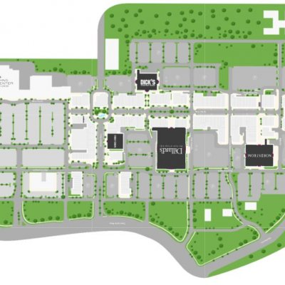 St. Johns Town Center plan - map of store locations