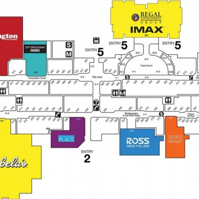 St. Louis Outlet Mall plan - map of store locations