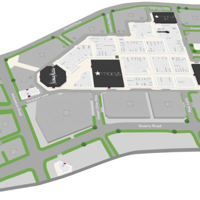 Stanford Shopping Center plan - map of store locations
