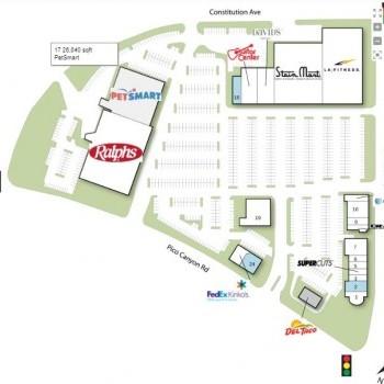 Stevenson Ranch Plaza plan - map of store locations