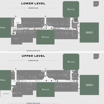Sunvalley Shopping Center plan - map of store locations