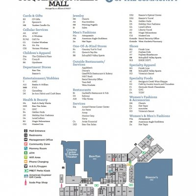 Susquehanna Valley Mall plan - map of store locations
