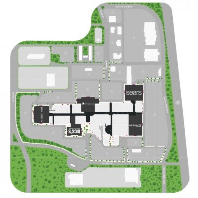 Tacoma Mall plan - map of store locations