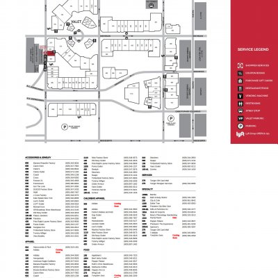 Tanger Outlets Atlantic City plan - map of store locations