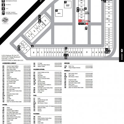 Tanger Outlets Gonzales plan - map of store locations