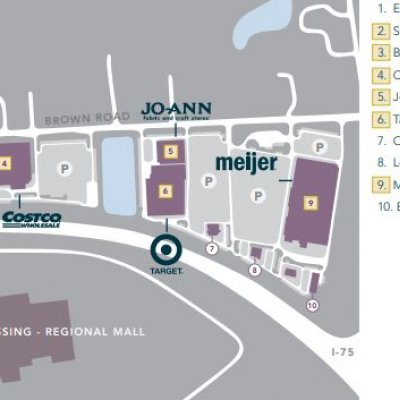 The Auburn Mile Shopping Center plan - map of store locations