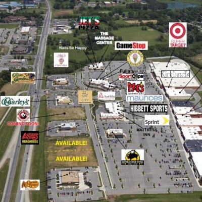 The Crossings of Spring Hill plan - map of store locations
