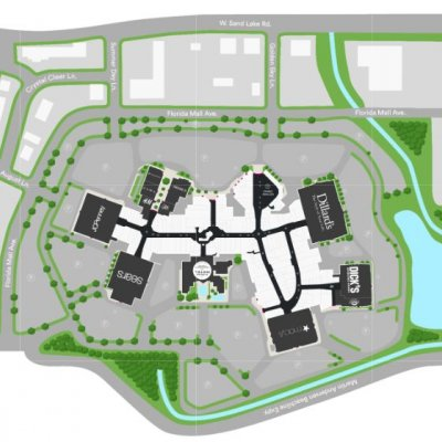The Florida Mall plan - map of store locations