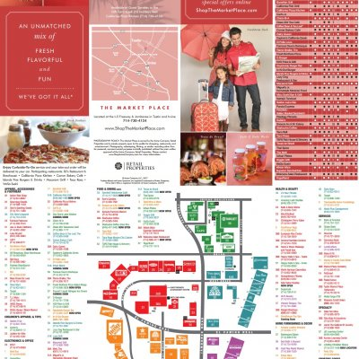 The Market Place plan - map of store locations