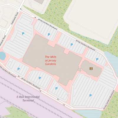 The Mills at Jersey Gardens plan - map of store locations