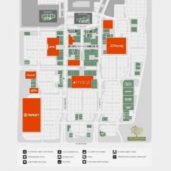 The Orchard Town Center plan - map of store locations