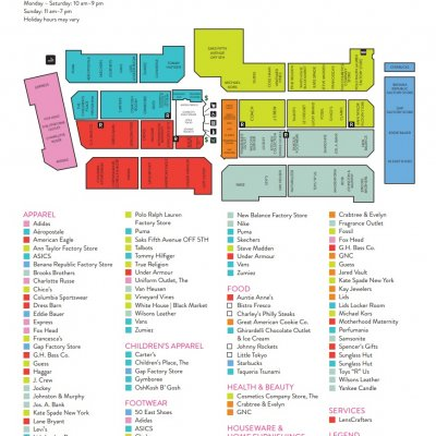 The Outlet Shoppes at Atlanta plan - map of store locations