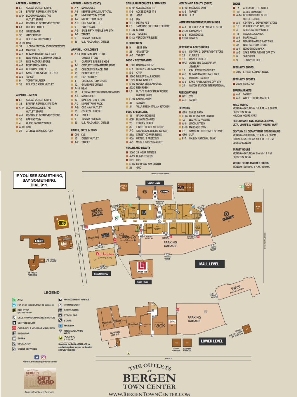 The Outlets at Bergen Town Center 83 stores outlet shopping in