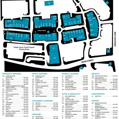 The Shoppes at Arbor Lakes plan - map of store locations