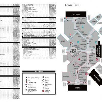 The Shops at Willow Bend plan - map of store locations