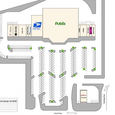 Trowbridge Crossing plan - map of store locations
