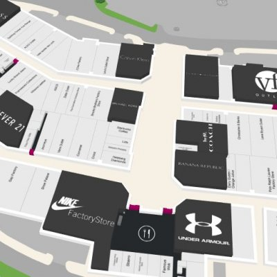 Tucson Premium Outlets plan - map of store locations