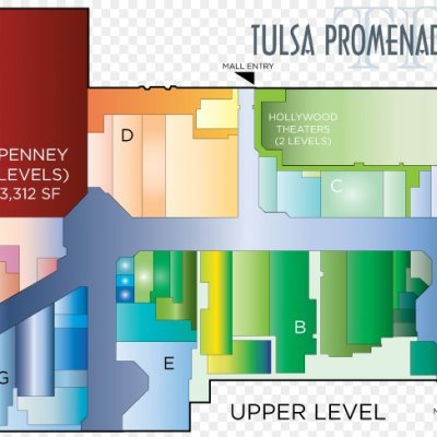 Tulsa Promenade plan - map of store locations