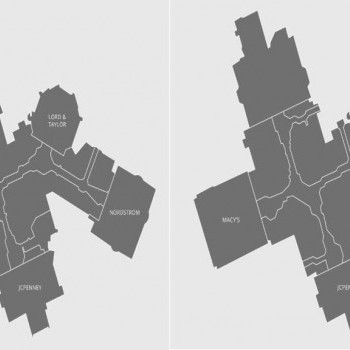 Twelve Oaks Mall plan - map of store locations
