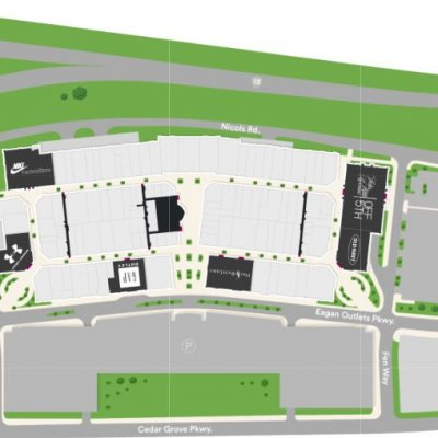 Twin Cities Premium Outlets plan - map of store locations