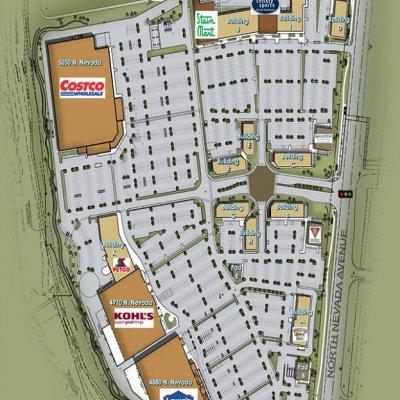 University Village Colorado plan - map of store locations