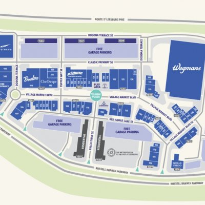 Village at Leesburg plan - map of store locations
