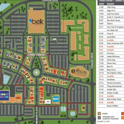 Village at Sandhill plan - map of store locations