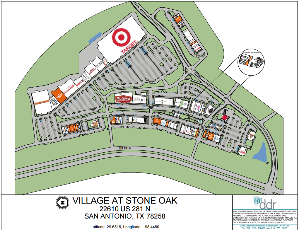 Village at Stone Oak 84 stores shopping in San Antonio Texas
