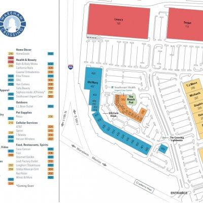 Wareham Crossing plan - map of store locations