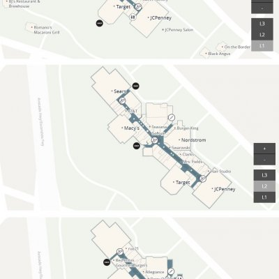 Westfield North County plan - map of store locations